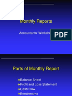 Monthly Reports Training