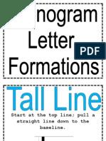 Phonogram Letter Formations