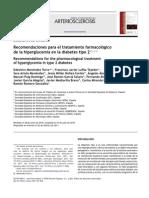 Recomendaciones para el tratamiento farmacológico DE dm 2