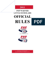 2011 Pop Warner Rule Book