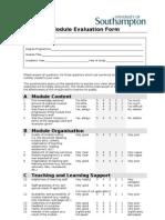Module Evaluation Form