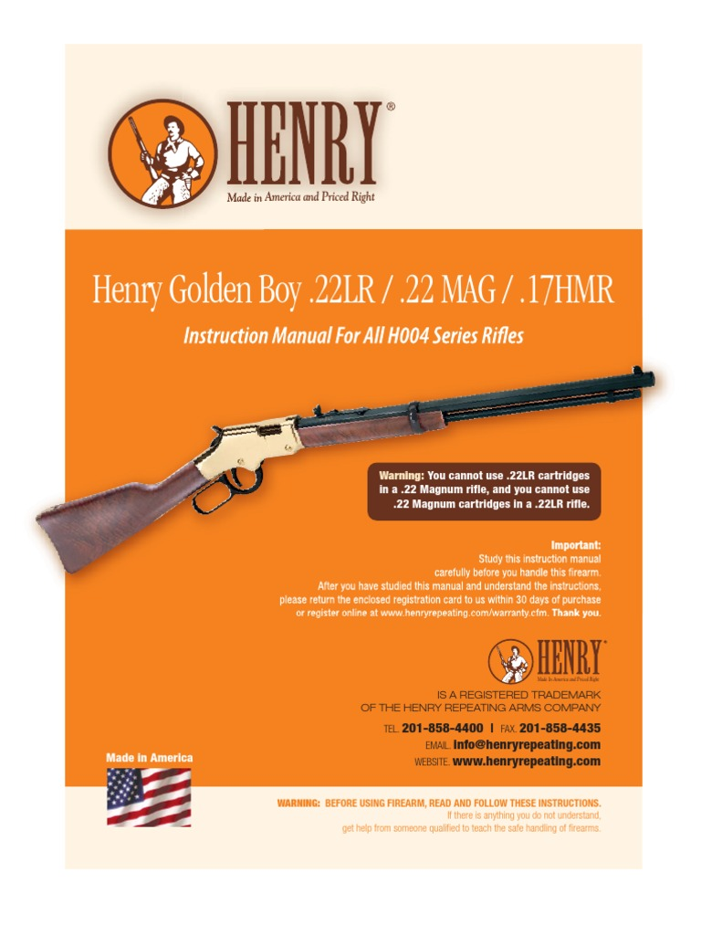 Henry Golden Boy 22lr Priced