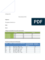 Lab Report 11 Electrochemical Cells