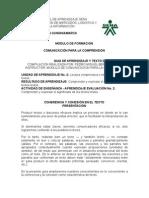 MODULO de FORMACION 2A Cohesión y Coherencia