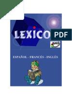 Léxico Inglés-Francés-Español