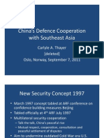 Thayer China's Defence Cooperation With South East Asia