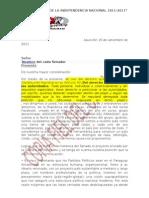NOTA PERSONALIZADA PARA CADA SENADOR