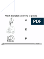 Match Letter From Picture 1