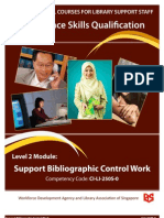 Support Bibliographic Control Work