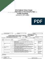 Operativni Plan Informatika Osmi Razred
