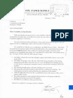 20100205 Panel 15 Otc's Letter Thru Specs Comm, Unmarked