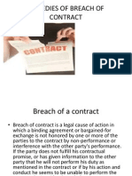 Remedies of Breach of Contract Uploading