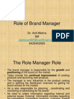 Role of Brand Manager
