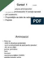 Curs 1 + 2 Aminoacizi