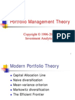 Investment Theory > Portfolio Management Theory