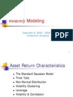 Risk Management > Volatility
