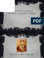 Undang-Undang Tubuh Negeri Johor
