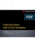 Code Generation With t4 Text Templates Introduction