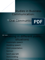 Oral Communication Ppt