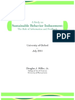 Oxford Study-Sustainable Behavior Inducement