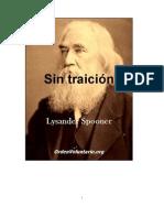 Lysander Spooner-Sin Traicion