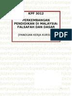 Kerja Kursus / Tugasan KPF3012 - Perkembangan Pendidikan Di Malaysia