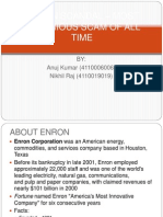 ENRON SCANDAL – MOST NOTORIOUS SCAM OF ALL
