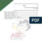 Patinas ABC Country