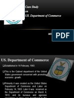 Case Study Us. Department of Commerce.