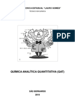 Apostila de Química Analítica Quantitativa - Professora Paula