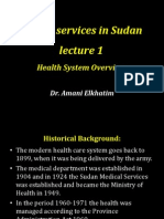 Health Services in Sudan