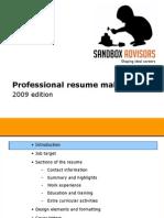 professionalresumemakeover-sandboxadvisors-091105060023-phpapp02