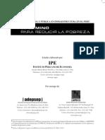 El Camino para reducir la Pobreza en el Perú, IPE 2006