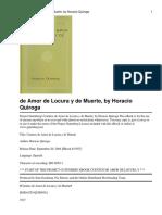 H. Quirog; Cuentos