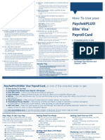 Paychekplus Elite Visa Payroll Card