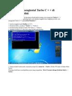 Cara menginstal Turbo C + + di Windows 7 64bit