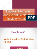 Factors, Percents, And Scientific Notation Review