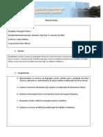 Plano de Aula de Portugues