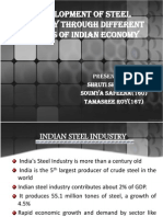 Development of Steel Industry Through Different Phases Of