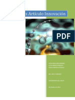 Análisis Artículo Innovacion