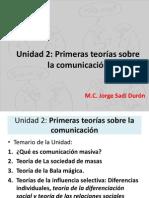 Unidad 2 Primeras Teorias Sobre La Comunicacion