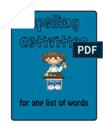Word Study Spelling Activities to Use With Any Words
