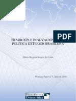 Tradicion e Innovacion en La Politica Exterior Brasilena (Soares de Lima)