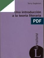 EAGLETON, Terry - Una Introducción a La Teoría Literaria
