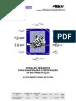 ABRAMAN - Normas e Requisitos para Qualificação e Certificação de Instrumentação