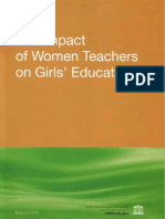 The Impact of Women Teachers on Girls Education