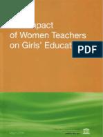 The Impact of Women Teachers on Girls Education