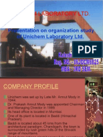 Presentation on Unichem Laboratory Ltd