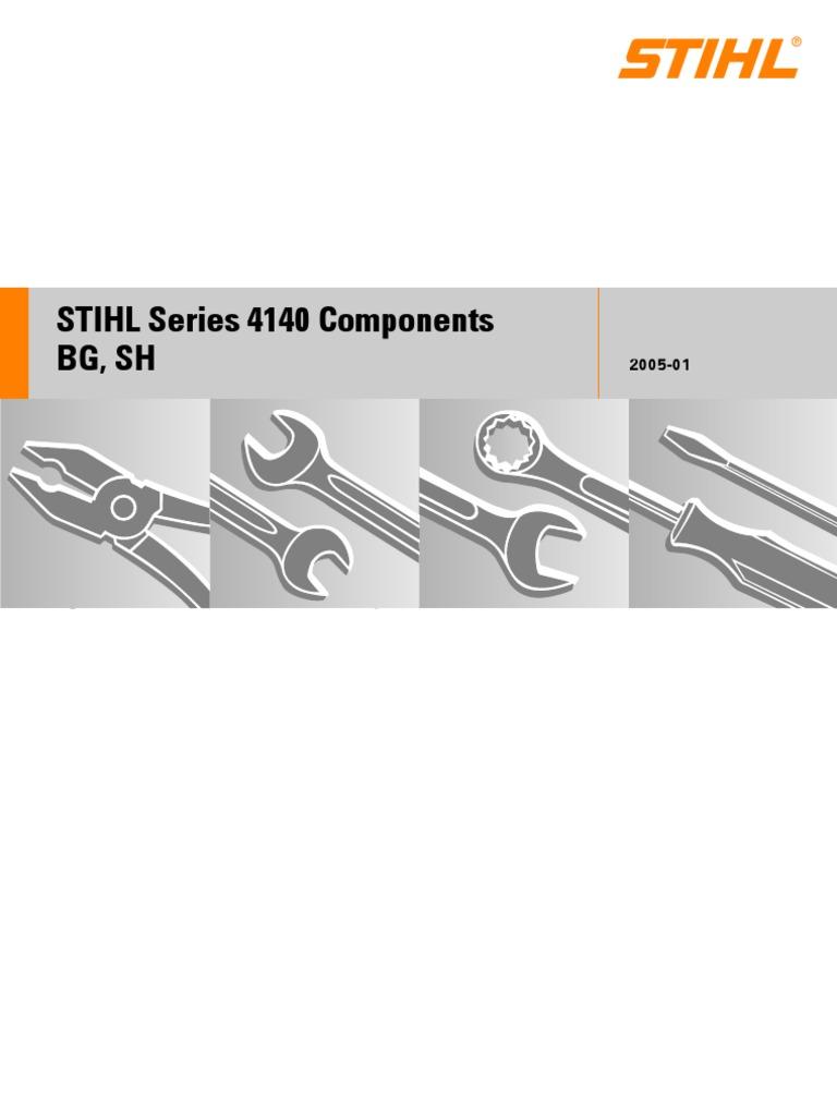 Crankshaft Original for Stihl Blowing Device Bg 45 46 55 65 85 Sh 55 Sh 85