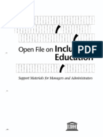 Inclusive Education - An Open File for Managers